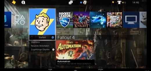 PS4 Main Menu on Windows